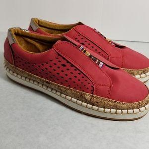 Red Slip on Sneaker size 7